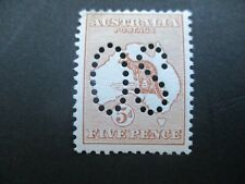 Kangaroo Stamps: 1st Watermark Large Perf OS MINT -  RARE  - Must Have (f46)