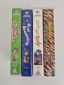 HI-5 VHS Tape Collection x4 Animal Adventures Move Body Music MachineStar Dream