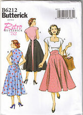 Vintage 50s Retro Rockabilly Back Wrap Dress Sewing Pattern Plus 14 16 18 20 22