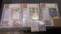 6 Enveloppes 12 Cartons Pré timbrés Fable de La Fontaine 1995 +  Calendrier