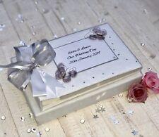 Personalised Wedding Photo Album 25th Anniversary Gift Luxury Silver Wedding