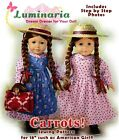 """18"""" American Girl Kirsten Anne Green Gables Pioneer Doll Clothes Pattern Dress"""