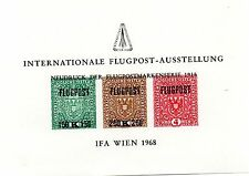 AUSTRIA 1968 SOUVENIR SHEET - INTERNATIONAL FLUGPOST AIRPOST CONVENTION -