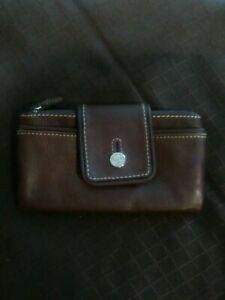 Rolfs ladies women Genuine Leather wallet purse New dark brown