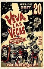 Viva Las Vegas Rockabilly Weekend Poster Vlv20 Lithograph Vince Ray Art 2017