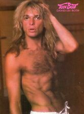 David Lee Roth Pinup Clipping Cutting From A Magazine 80'S Shirtless Van Halen
