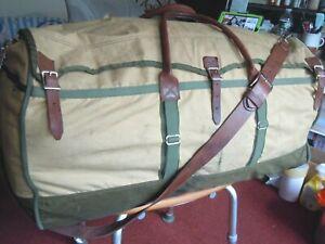 Vintage GOKEYS ORVIS Canvas & Leather Hunting/Travel Duffle Bag Battenkill 1945