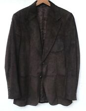 GUCCI BROWN LEATHER SUEDE JACKET BLAZER SIZE 48 US S
