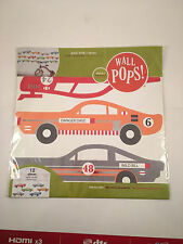 Wall Pops Rally Racers Peel and Stick Wall Decals 12 Pieces - NEW