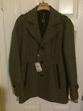NEW Soia & Kyo Mens Blazer Sport jacket Coat Wool Jimmy Size M Medium Brown