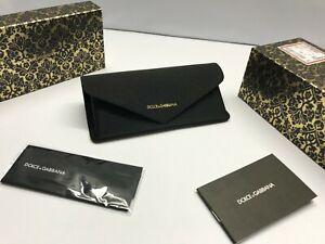 Case Dolce Gabanna Sunglasses D G Authentic Black special edition Large D&G Soft