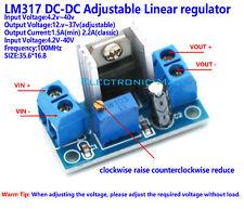 DC-DC 4.2V~40V To 1.2V~37V 2.2A Adjustable Liner Regulator Step-Down Converter