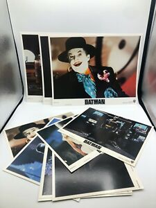 complete set of 1989 Batman movie theatre 11x14  window cards and 8x10a COLOR