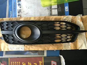 AUDI 4G A6 2011-2014 LEFT FRONT GRILLE SATIN BLACK 4G0807681E