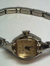 Bulova Vintage Ladies Wind Up Stainless Steel Watch