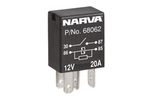 Narva Micro Relay Normally Open With Resistor 12V 4 Pin 20A 68062 fits Holden...