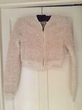 Fluffy Cream Hollister Fleece/jacket. Size XS. Hardly Worn