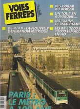 VOIES FERREES N°120 PARIS METRO / Ge 4/4 II / CORAIL / MAURITANIE / BB 12000