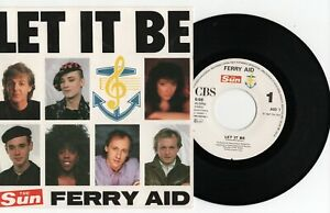 "Ferry Aid - Let It Be - (Beatles John Lennon Paul McCartney) - 7"" Vinyl Single"