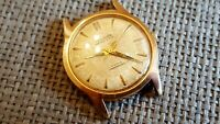 Rare Vintage Nivada Compensamtic Wristwatch Watch Gold Plated