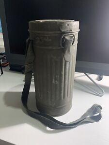 RARE Vintage Spanish Civil War/WWII-era German Gas Mask Canister (NO Mask)