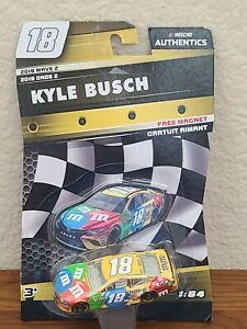 2018 Wave 2 Kyle Busch M&M's 1/64 NASCAR Authentics Diecast