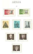 Lithuania F80 MNH 1993 8v Church Architecture Famous people