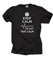 Gift For Paramedic Keep Calm OK Not That Calm T-Shirt EMT Funny Occupation Tee S