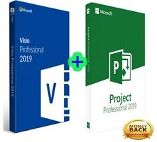 Microsoft project & Visio 2019 Professional FOR 1 users GENUINE