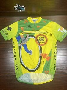 Voler Cycling Jersey Men's Large Almaden Cycle Touring Club Yellow Green Used
