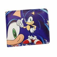 Kids Anime Style Wallet Super Sonic Short Clutch Holder Cartoon Hedgehog Purse