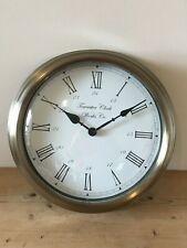 Large Station Wall Clock Reproduction Faux Bronze Towcester Clockworks Co.