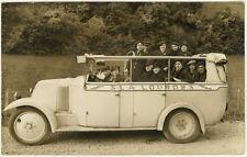 Lot de 7 Carte Photos Bus Car Autobus de Tourisme Vers 1920/30