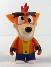 Kidrobot Crash Bandicoot Vinyl Mini Series Crash Crazy Eyes Figure NEW
