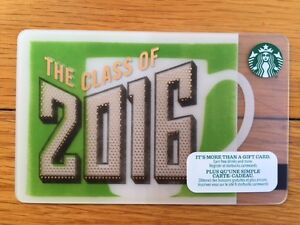 """Canada Series Starbucks """"CLASS OF 2016"""" Gift Card - New No Value"""