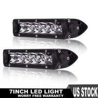 7Inch 30w Single Row Slim Led Light Bar Spot Docking Lights Driving Lamp (2pcs)