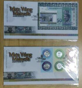 Malaysia 2010 Matawang Mata Wang Currency Banknote Coins Money MS stamp FDC set