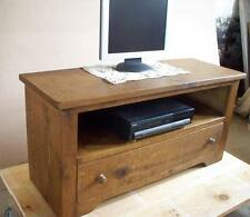 -any size made- SOLID WOOD RUSTIC PLANK PINE tv stand cabinet entertainment unit