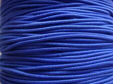 5m 1mm Azul Real Cubierto Con Cuentas Cuerda Elástica Ideal Para Madera y granos de poni niños