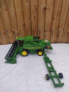 Bruder John Deere Combine Harvester T670i Scale Model Farm Toy 1:16 Plus Trailer