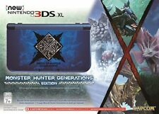 Nintendo New 3DS XL Monster Hunter Generations Edition Blue Handheld System