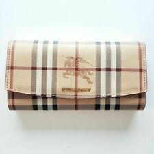 Burberry Tartan Check and Leather Two-Tone Continental Wallet | Beige/Red | $560