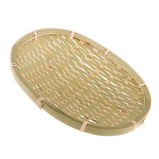 Natural Bamboo Wicker Bread Snacks Basket Storage Hamper Display Trays