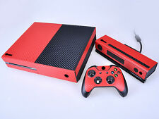Red Carbon Fiber Cover Skin Sticker for Xbox One & Kinect & 2 controller skins