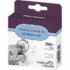Clear Photo Corners Self-Adhesive 250 Polypropylene Wedding Albums Card 10mm