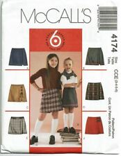 McCalls Sewing Pattern 4174 Girls Skorts Size 3-6 School Uniform