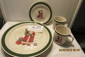 "Christmas plates "" Santa"" - set of 6"