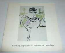 German Expressionist prints ad drawings     ART EXHIBITION CATALOGUE