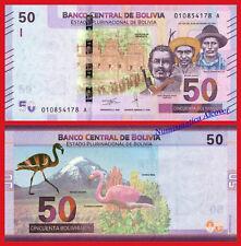 BOLIVIA 50 Bolivianos 2018 NEW DESIGN Pick New  SC / UNC