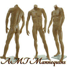 """5'8"""" Male headless mannequin, muscular manequin man manikin- headless X-X"""